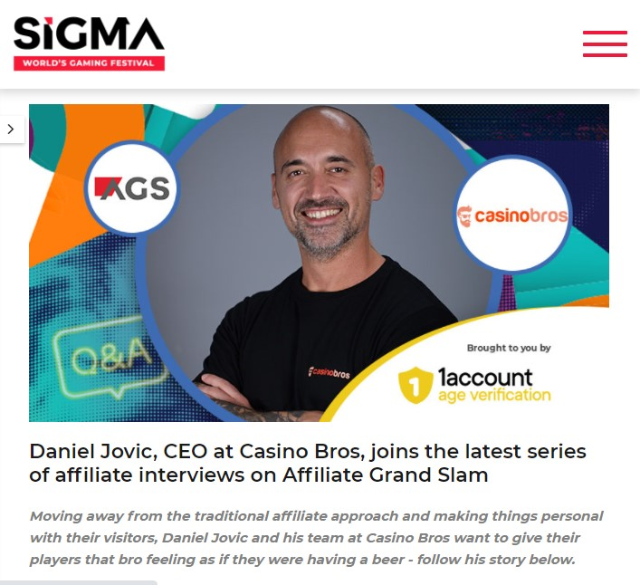 SiGMA interview with Casino Bros