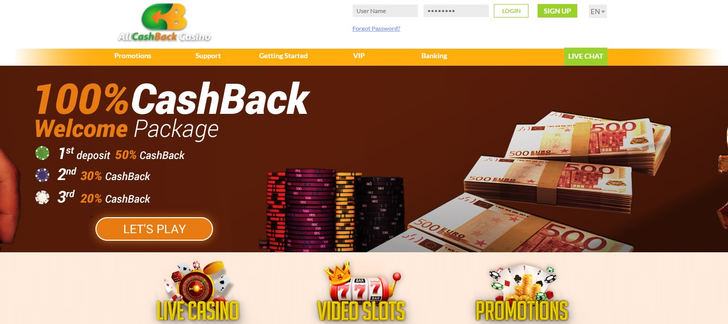 All Cashback Casino Top 10 Casinos low wagering requirements