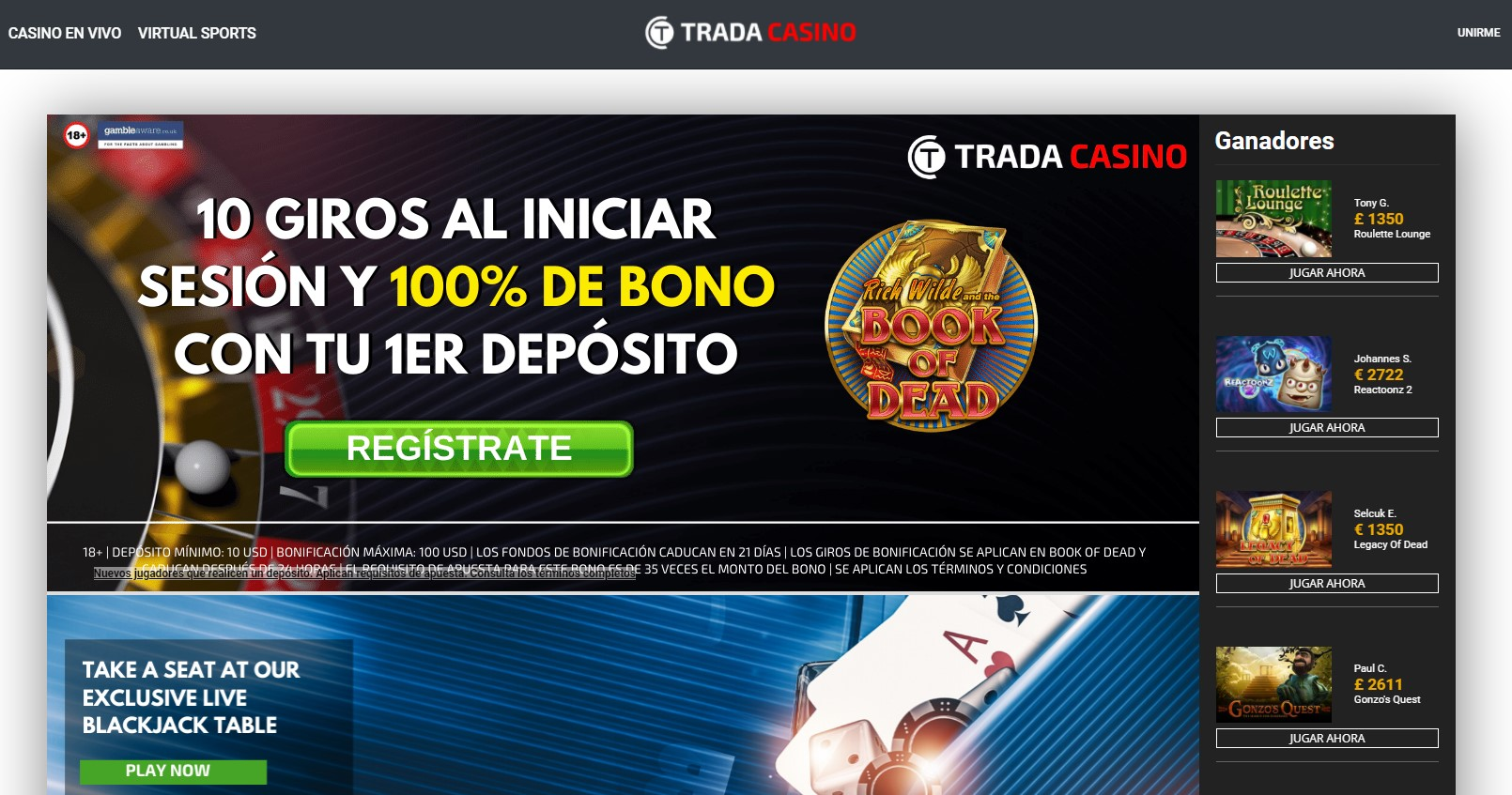 Trada Casino Top 10 Low Wagering Requirements