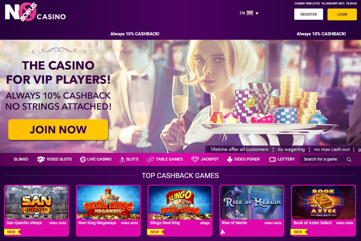 No Bonus Casino Top 10 Low wagering requirements