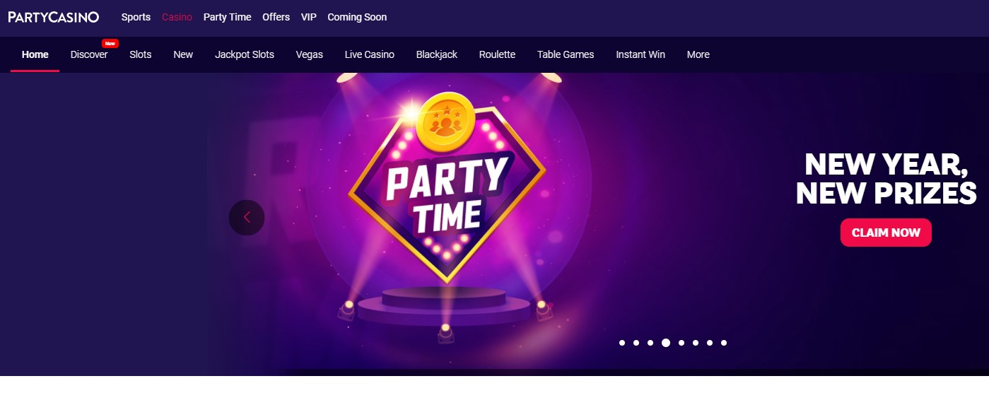 Party Casino Top 10 Low wagering requirements