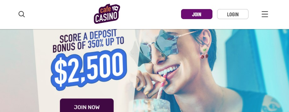 cafe casino landing page