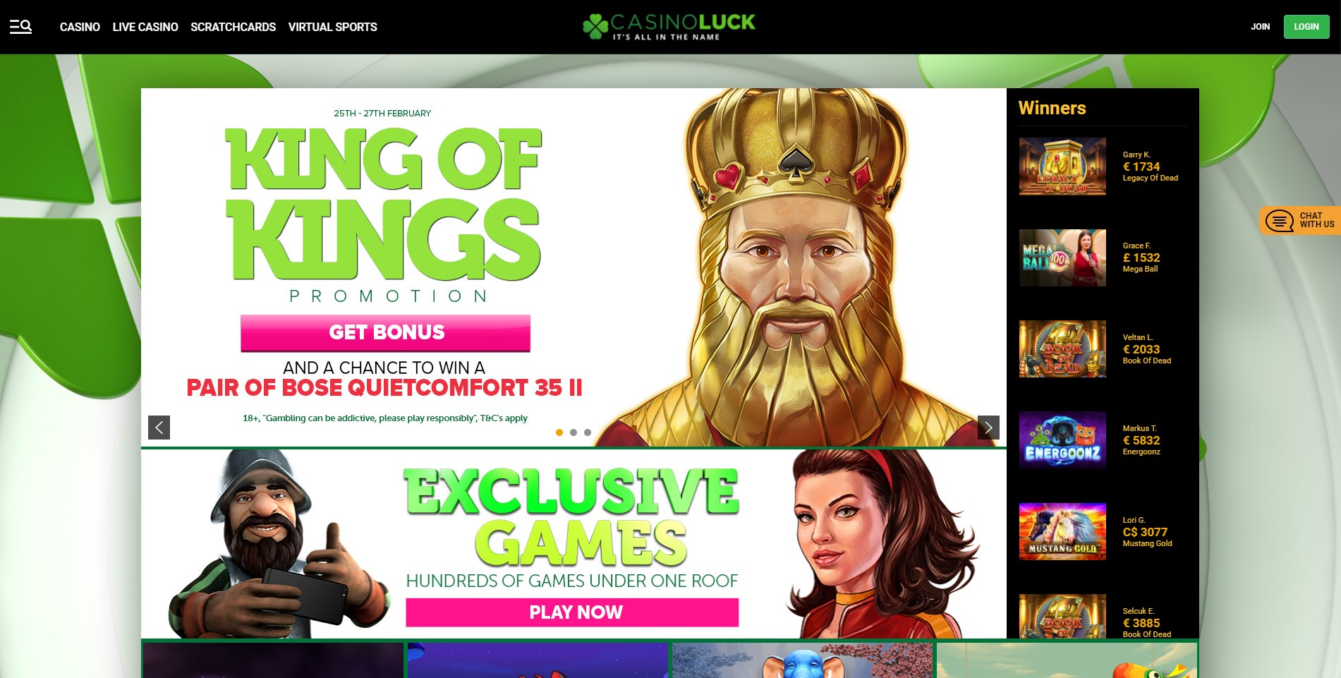 CasinoLuck Landing Page