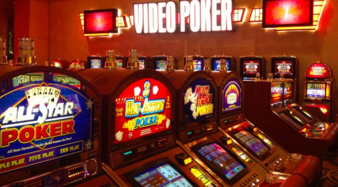 Video Poker machines inside a casino