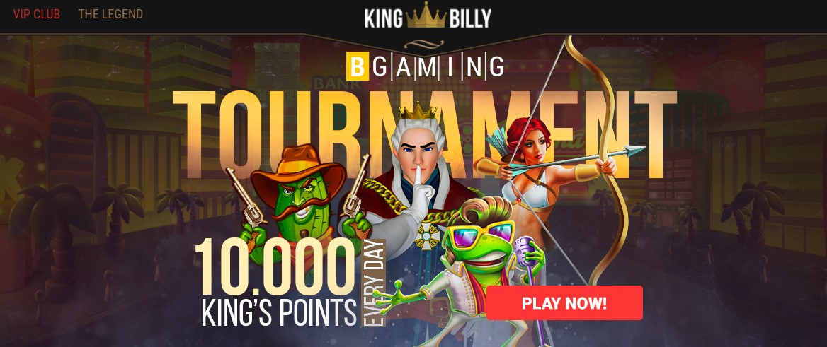 King Billy Casino Landing Page