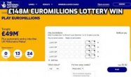 £148m win on Euromillions lottery