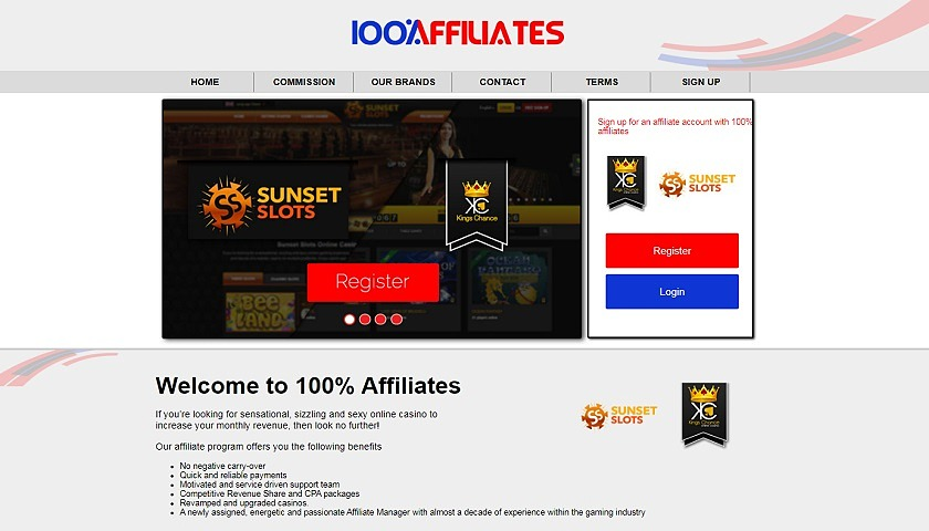 100% Affiliates screenshot