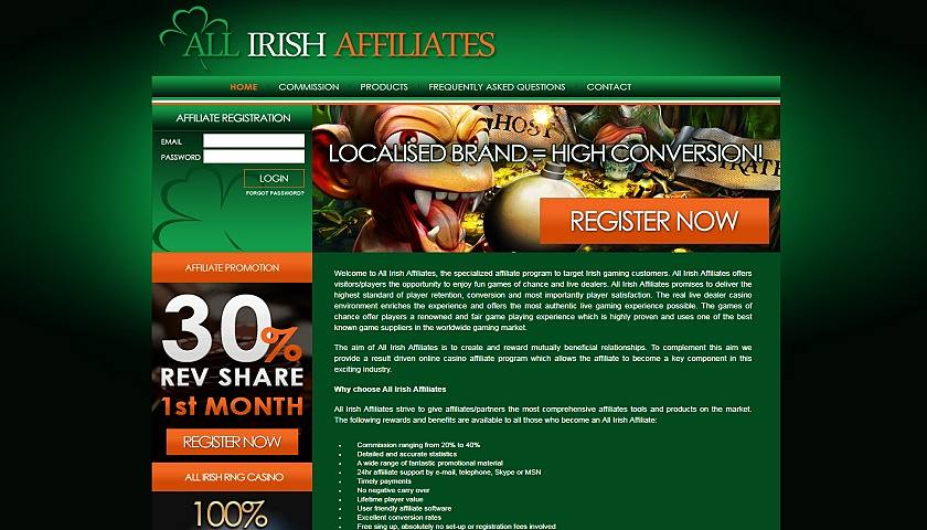 All Irish Affiliates screenshot