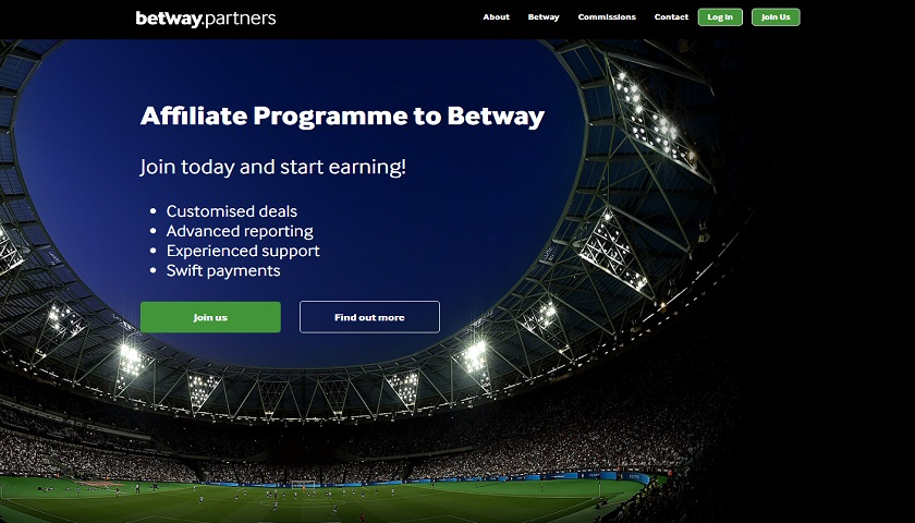 Betway Partners screenshot