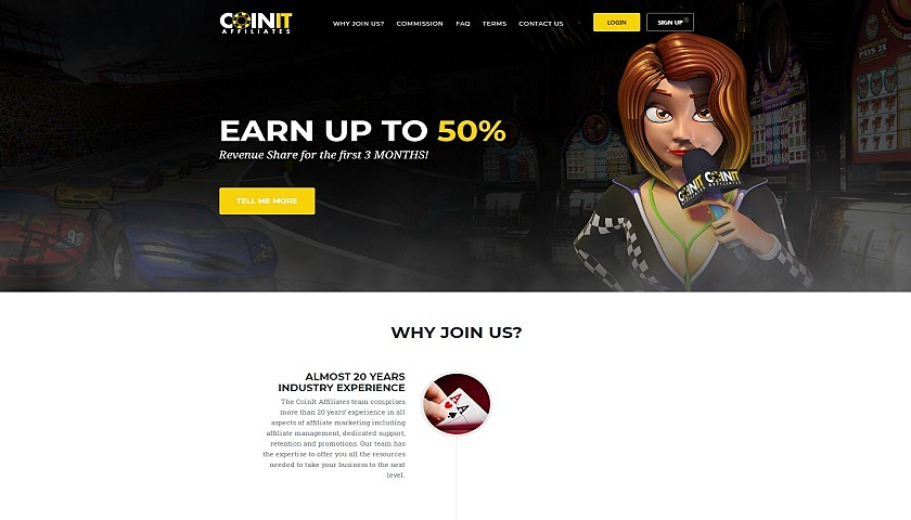 Coinit Affiliates screenshot
