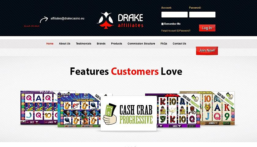 Drake Affiliates screenshot
