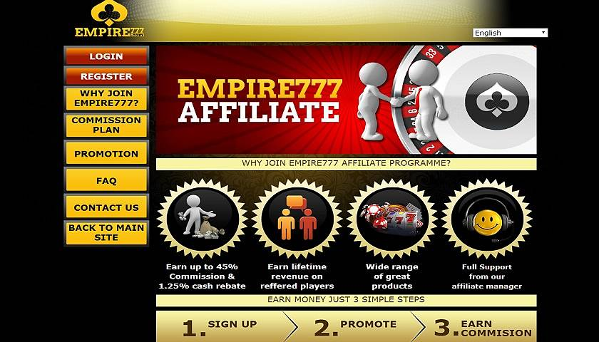 Empire777 Affiliate captura de pantalla