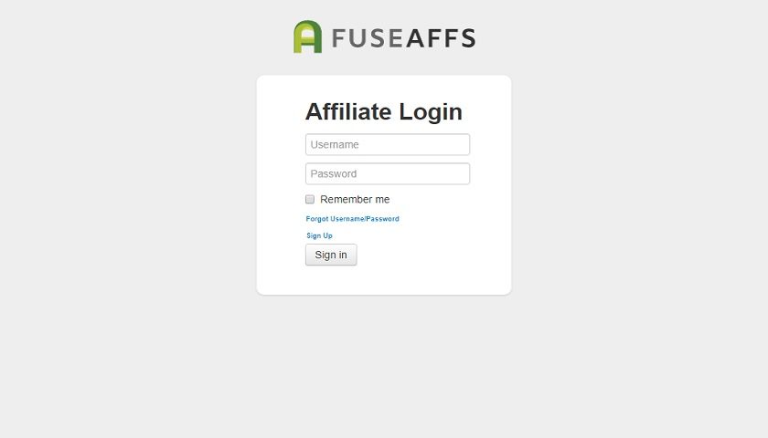 FuseAffs Affiliates screenshot