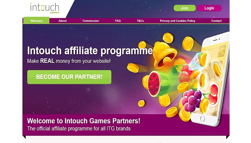 InTouch Affiliates captura de pantalla