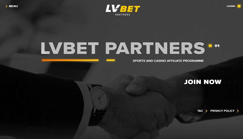LVbet Partners captura de pantalla