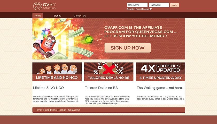 QV Affiliates screenshot