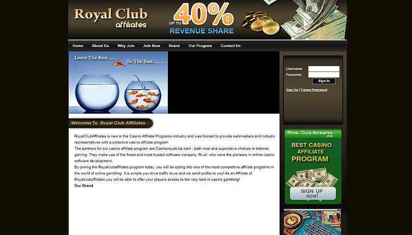 Royal Club Affiliates screenshot