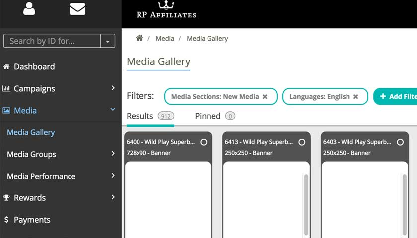 RP Affiliates backend