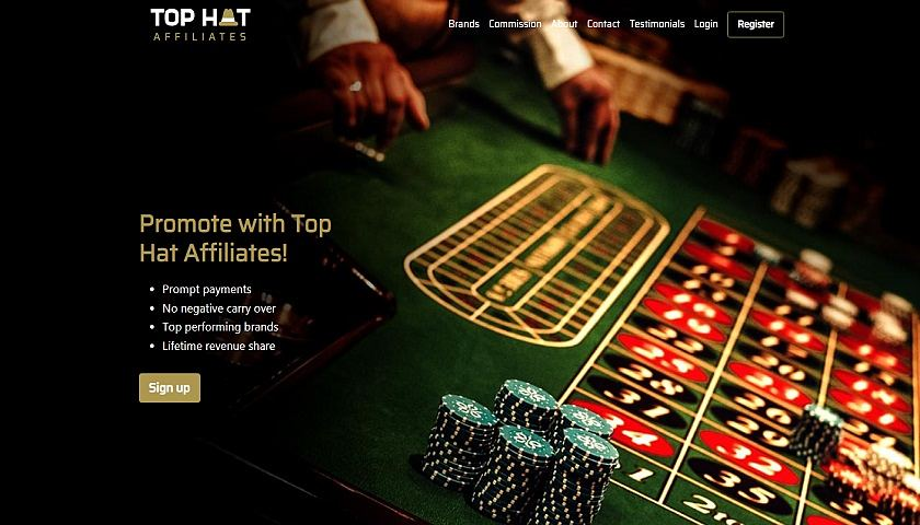 Top Hat Affiliates captura de pantalla