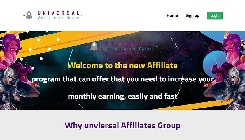 Universal Slots Affiliates screenshot