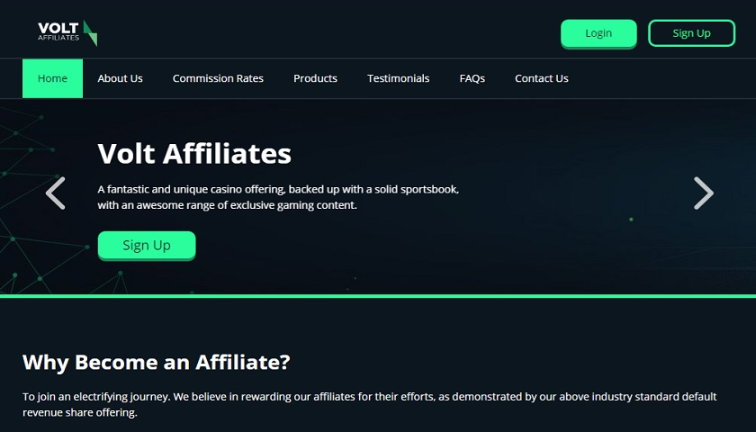 Volt Affiliates screenshot