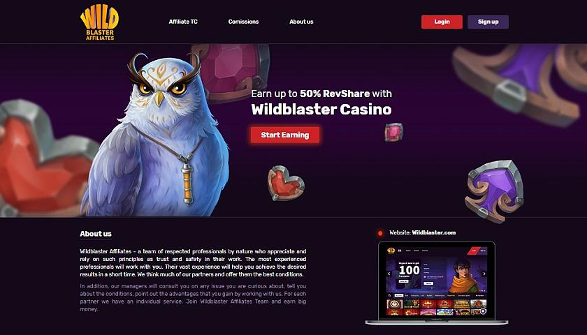 Wildblaster Affiliates captura de pantalla