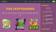 Cryptogames casino desktop screenshot
