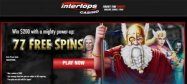 Intertops casino 77 free spins exclusive